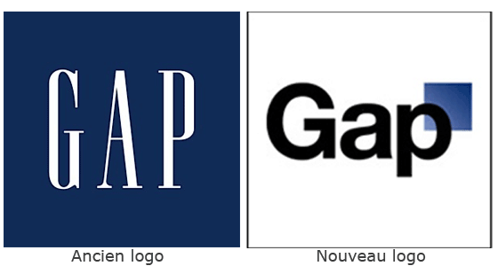 Evolution du logo Gap