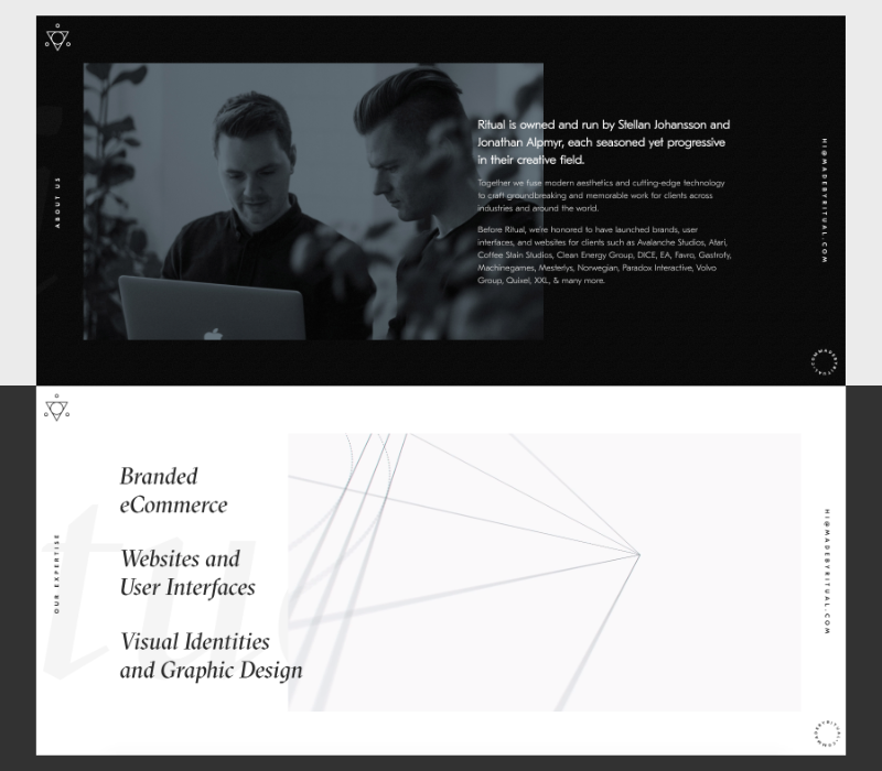 site one-page agence Ritual