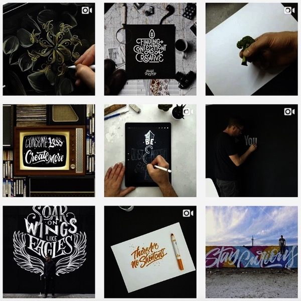 Feed instagram typographie