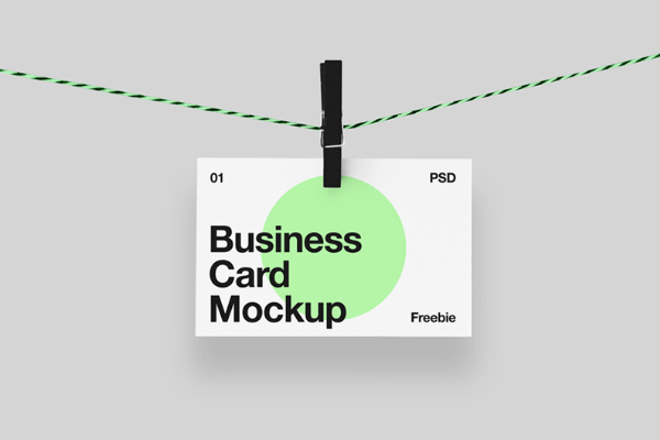 Hanging business card