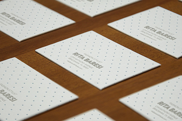 Letter business cards