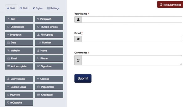 jQuery Form Builder