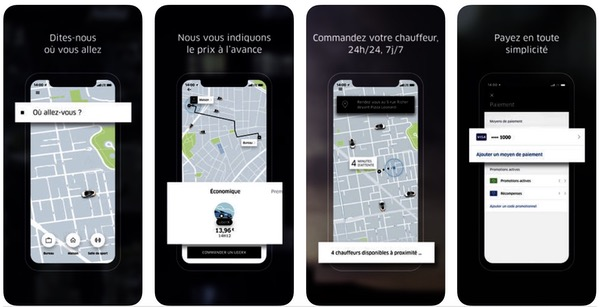 Uber menu hamburger