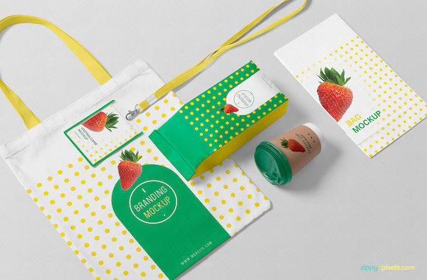 Mockup packaging branding
