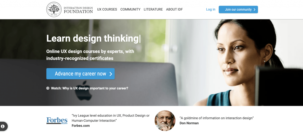plateforme interaction design foundation