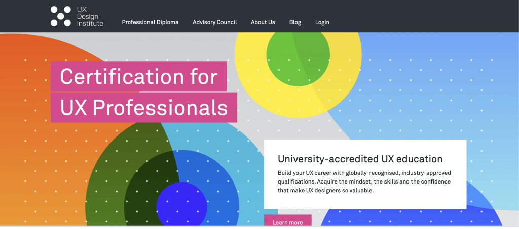 site web de UX Design Institute