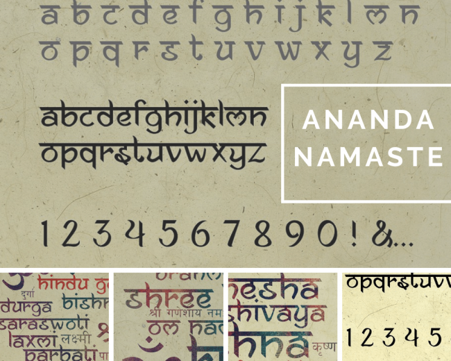 Ananda Namaste typographie pour graphiste réussir ses infographies chiffres