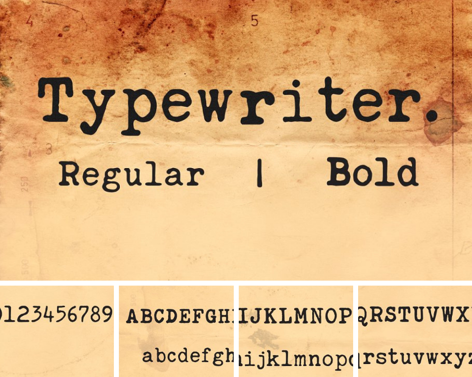 typewriter typographie pour graphiste réussir ses infographies chiffres