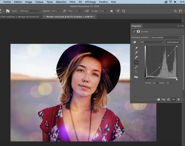 courbe ajustement image tutoriel photoshop