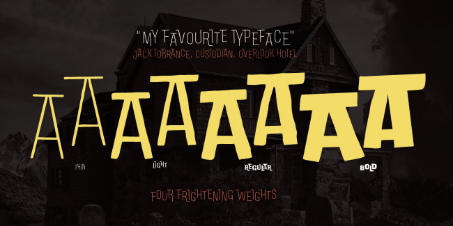 free font doubleness typographie halloween