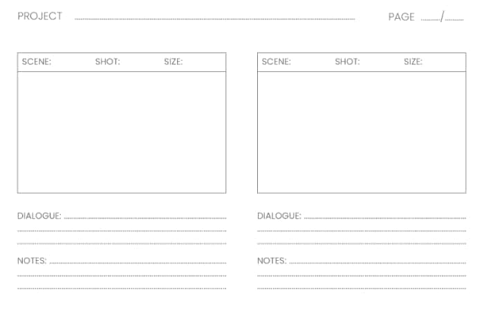 guide complet storyboard vierge