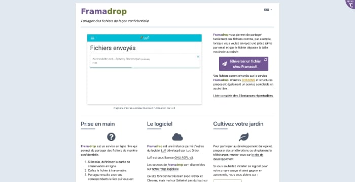 outils transfert emails volumineux farmadrop