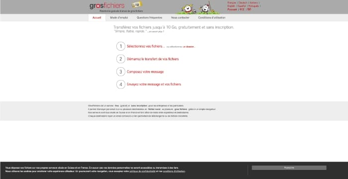 outils transfert emails volumineux gros fichiers