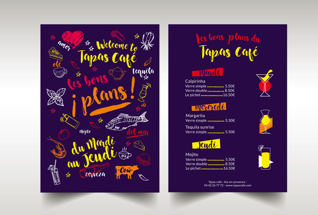 Flyer Tapas Café