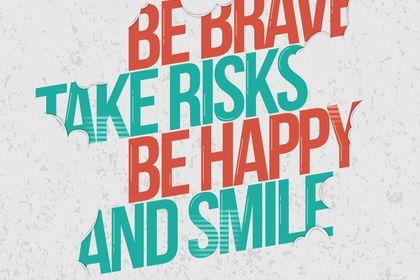 """Création """"Be brave"""""""