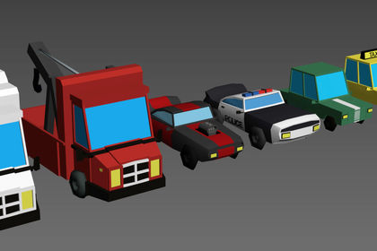 Vehicules Low Poly