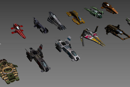 Pack de vesseaux spatiaux pour jeu mobile