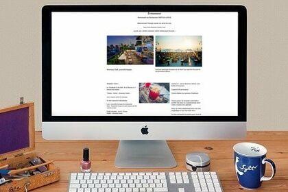 Page site Évènement restaurant 2021