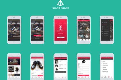 Divers écrans d'interfaces d'une appli mobile d'e-