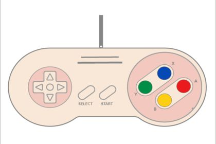 Super Nintendo Controller Flat Pink