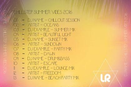 Jaquette CD Dos Summer Mixtape