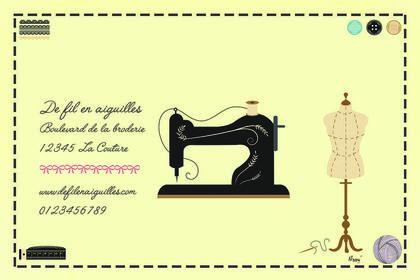 Carte visite couture recto