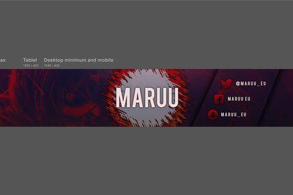 """Banniere Youtube """"Maruu"""""""