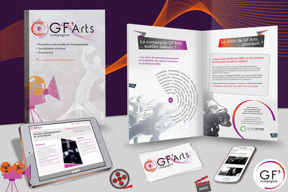 Identité visuelle - Compagnie GF'Arts