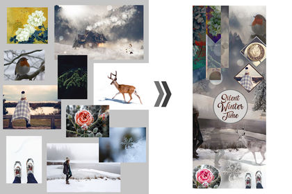 Montage Photoshop - Moodboard Hiver