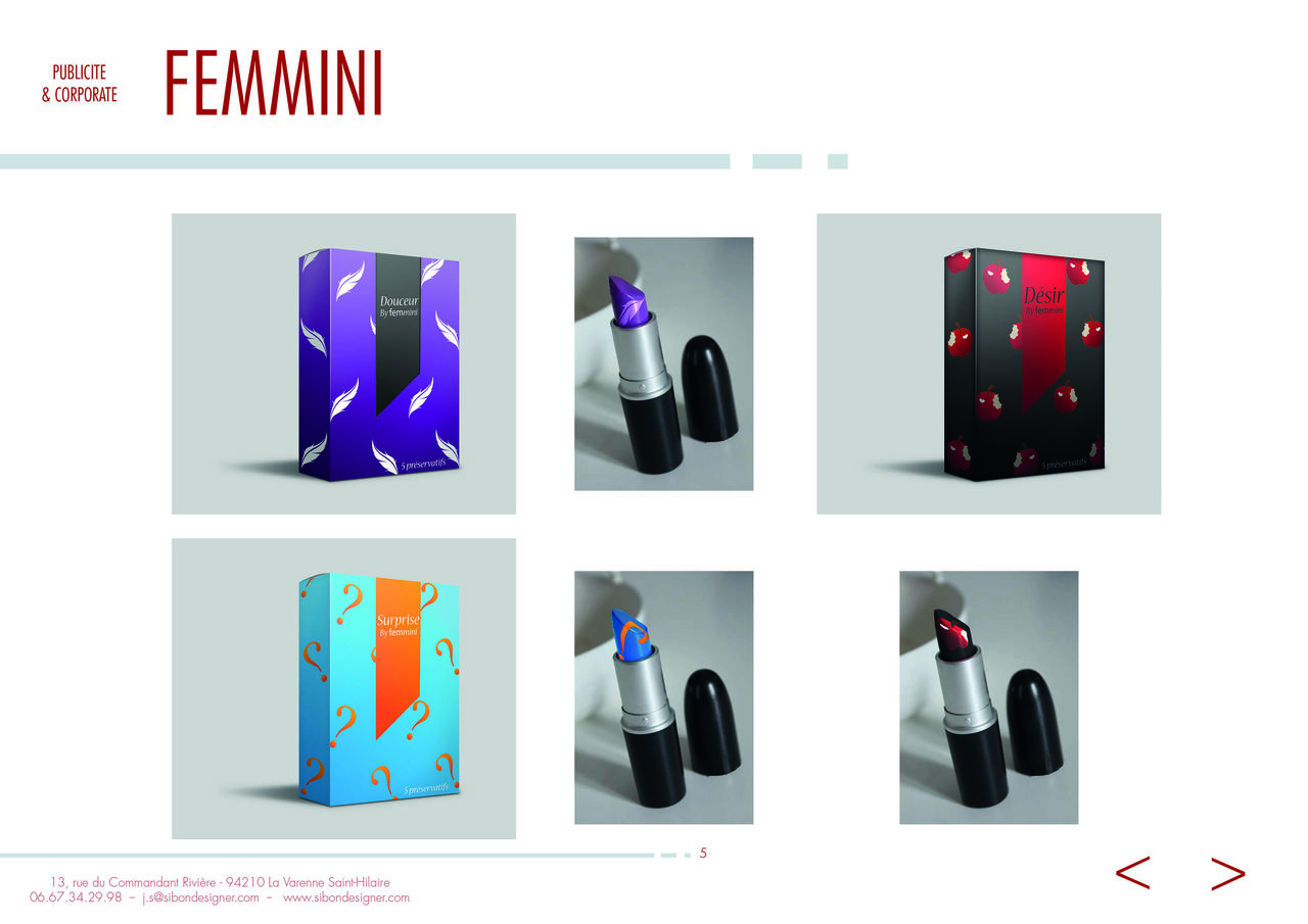 Packaging - Préservatif Féminin - FEMMINI