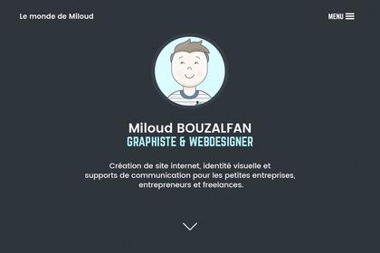 Portfolio Le monde de Miloud Homepage