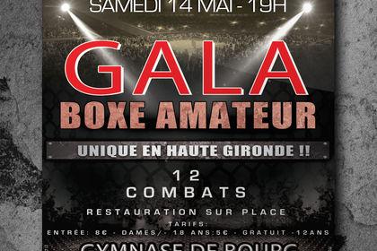 "Affiche ""Gala de Boxe Bourg"""