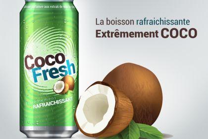 Design pour une boisson coco ;)