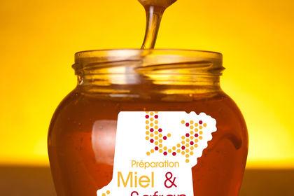 Etiquette miel safran