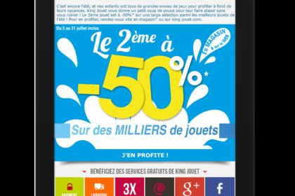 Emailing Groupe king Jouet