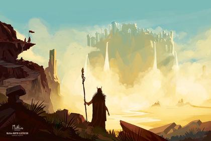 Montagne et sorcier