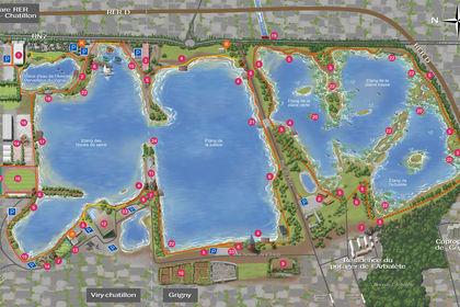 Plan d'orientation des Lacs de viry-Châtillon