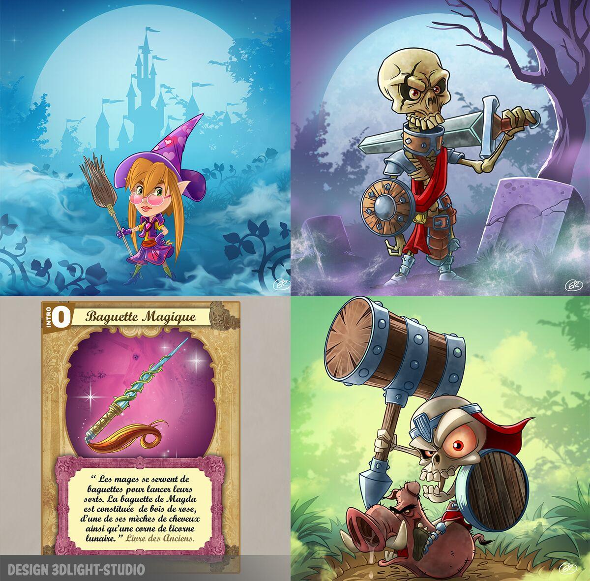 Ilustrations jeu de chasse aux trésors