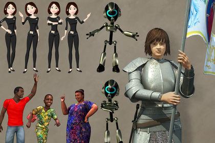 Mascottes 2D et 3D