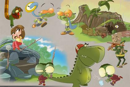 Personnages Cartoon  Les Tibidous