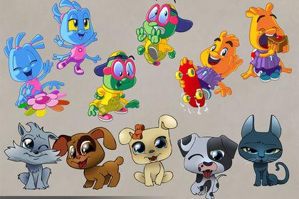Personnages Cartoon  Les Tibidous Chats et Chiens