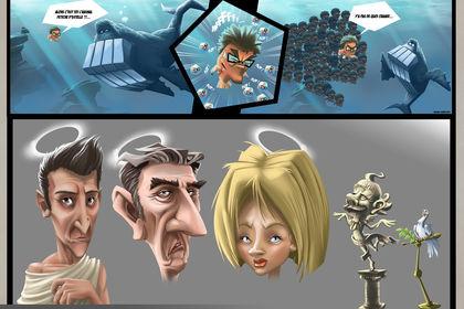 Style cartoon semi-réaliste