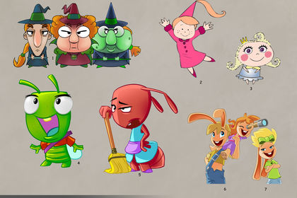 Mascotte pour animations cartoon