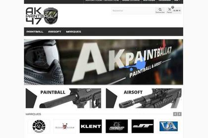 Site ecommerce prestashop paintball