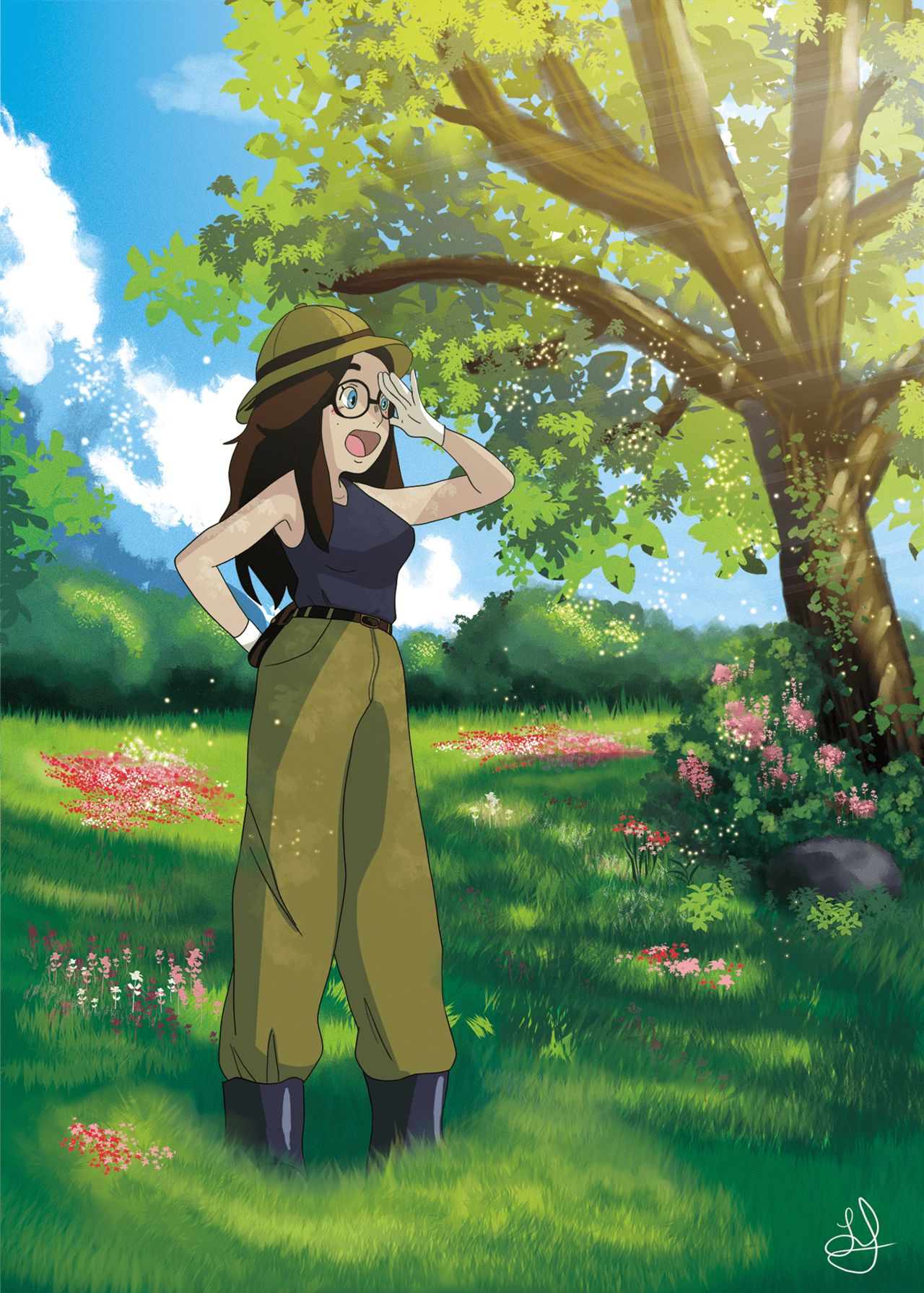Illustration - Archéologue Ghibli