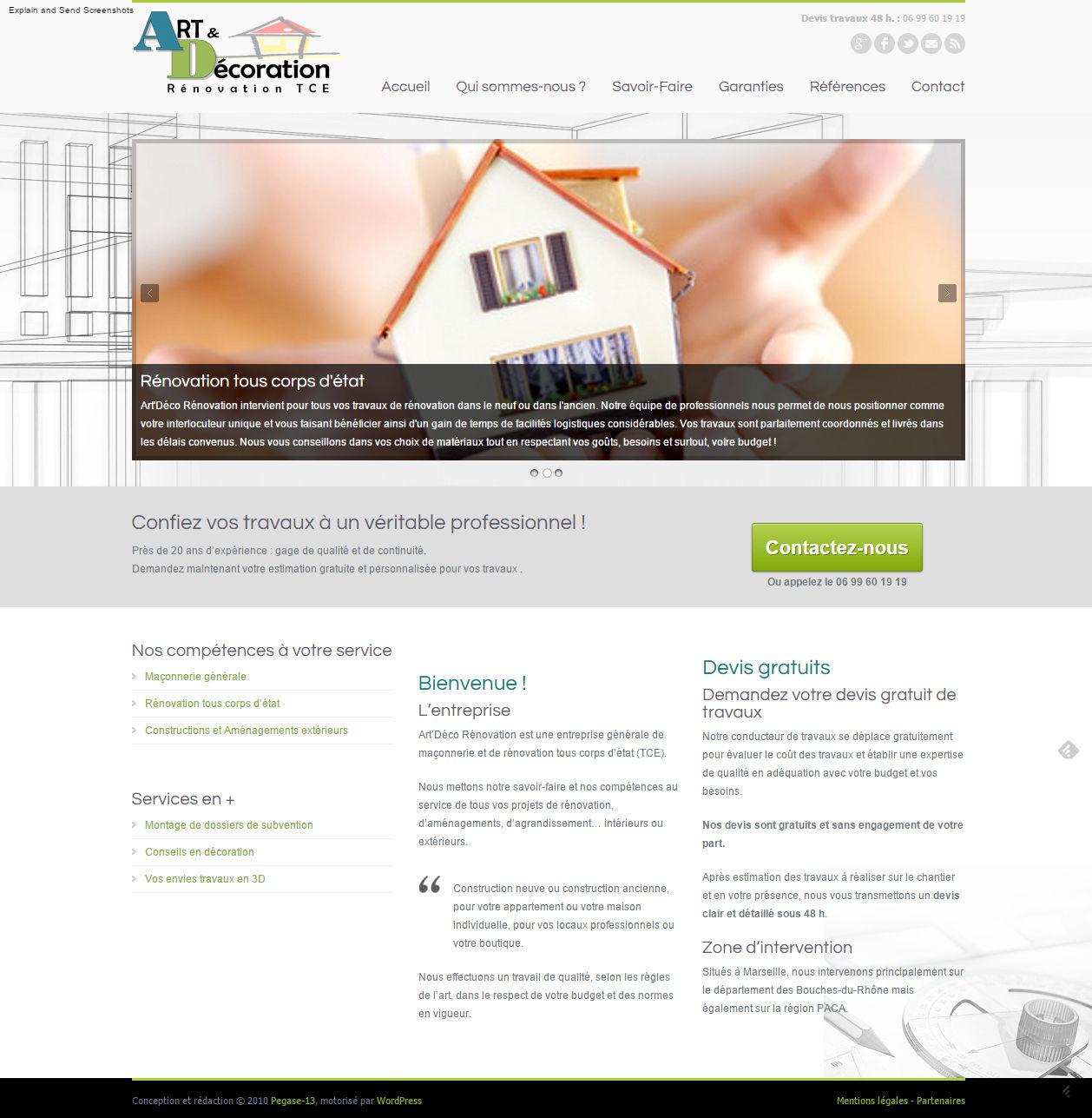 Site internet artisan