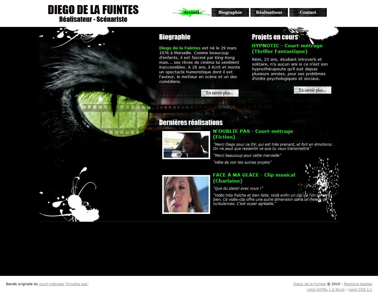 Site internet réalisateur