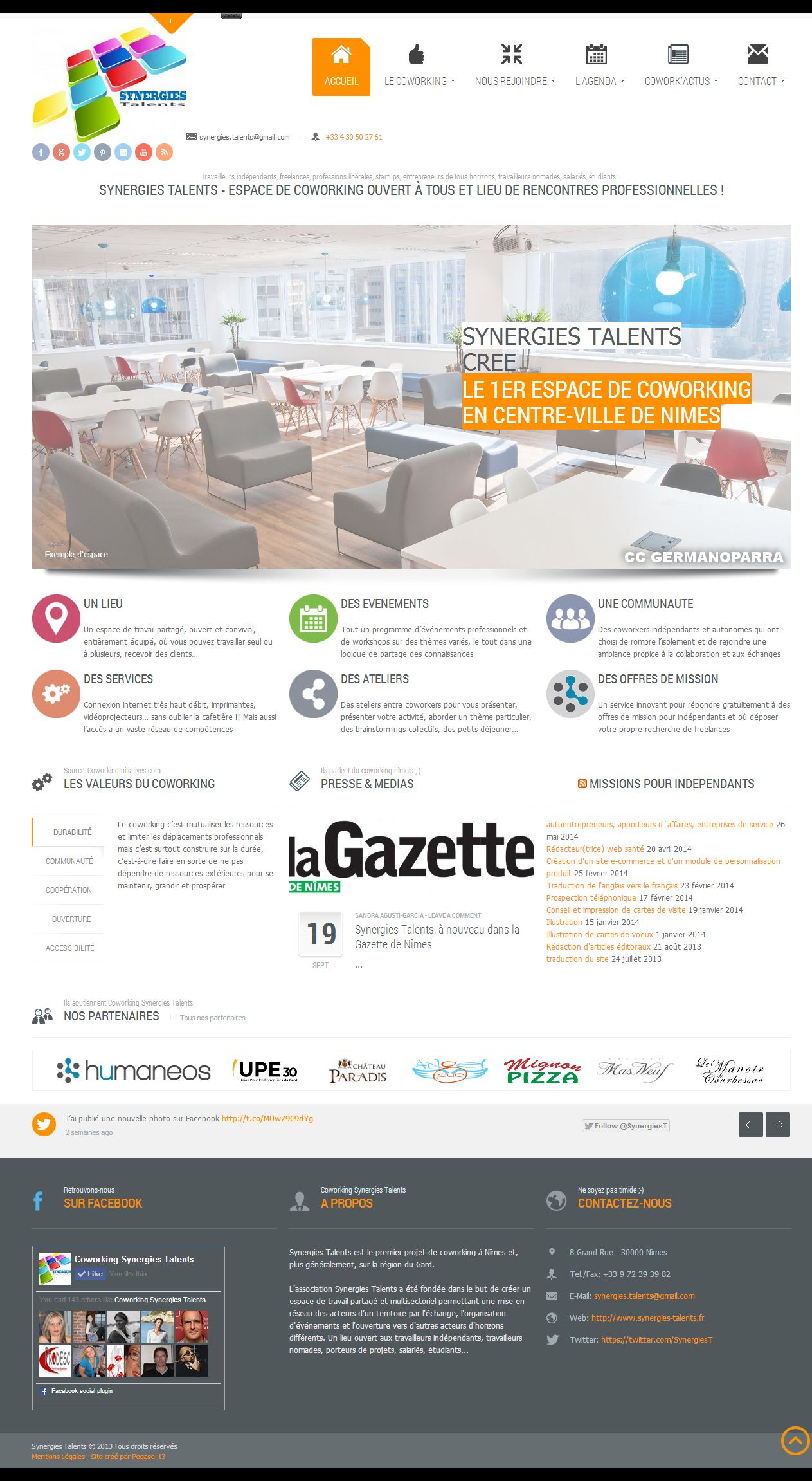 Site internet Association, charte graphique