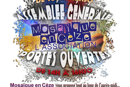 Affiche de l'AG Assoc. Mosaïque en Cèze