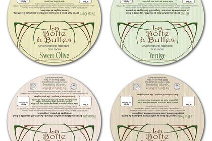 Etiquette Packaging La Boîte à Bulles